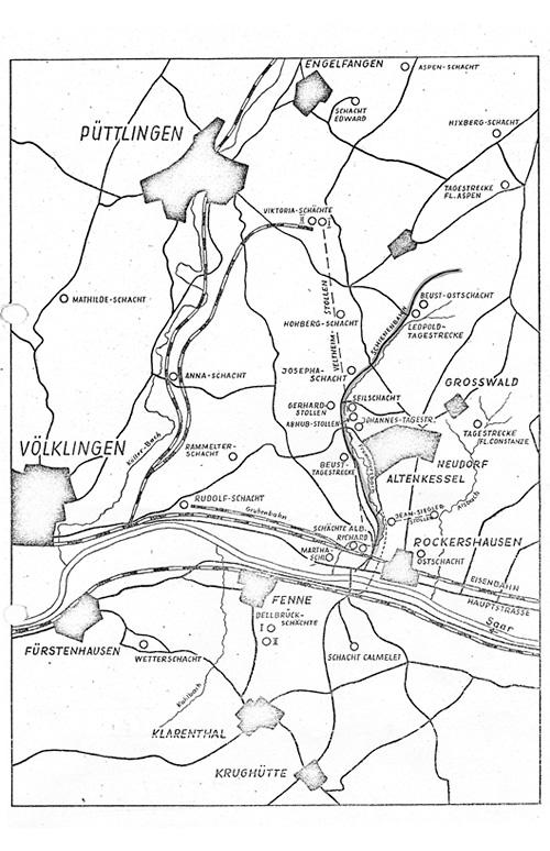 Landkarte Schienenweg