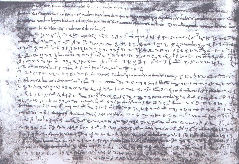 Urkunde von 822