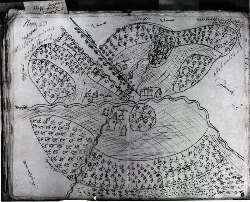 Die älteste Karte von Völklingen aus dem Jahre 1594