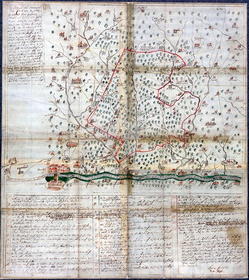 Warndtkarte von 1640. Stadtarchiv Völklingen