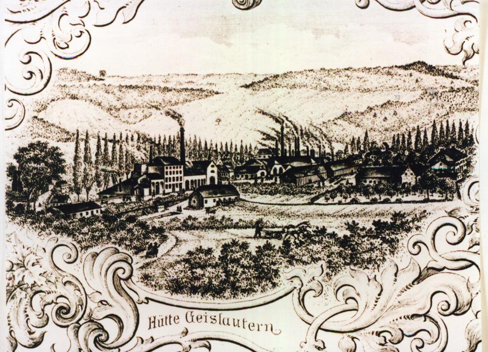 Eisenhütte Geislautern um 1860. Bildarchiv Kunkel