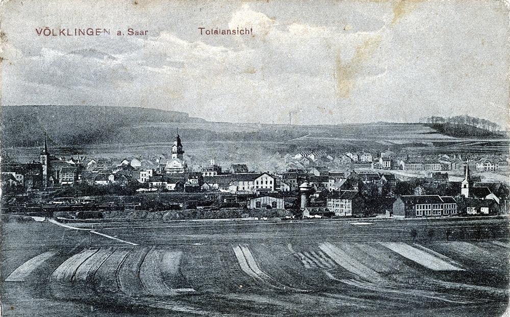 Völklingen um 1900. Stadtarchiv Völklingen