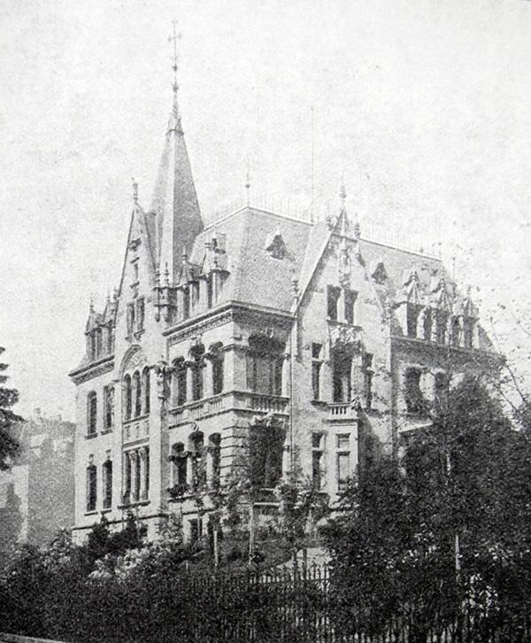 Die Villa Röchling am Triller 1898