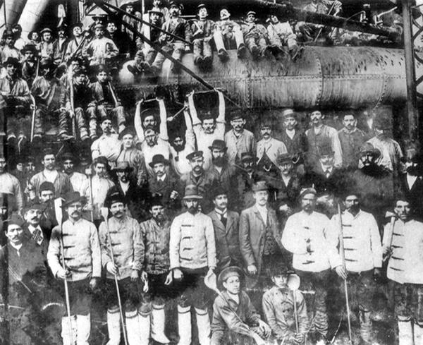 Völklinger Hochöfner 1895