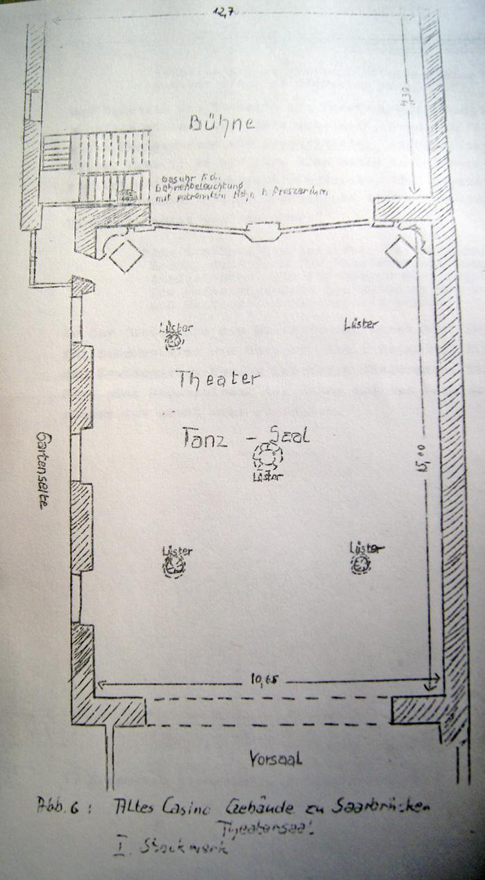 Grundriss des Theaters im Alten Casino