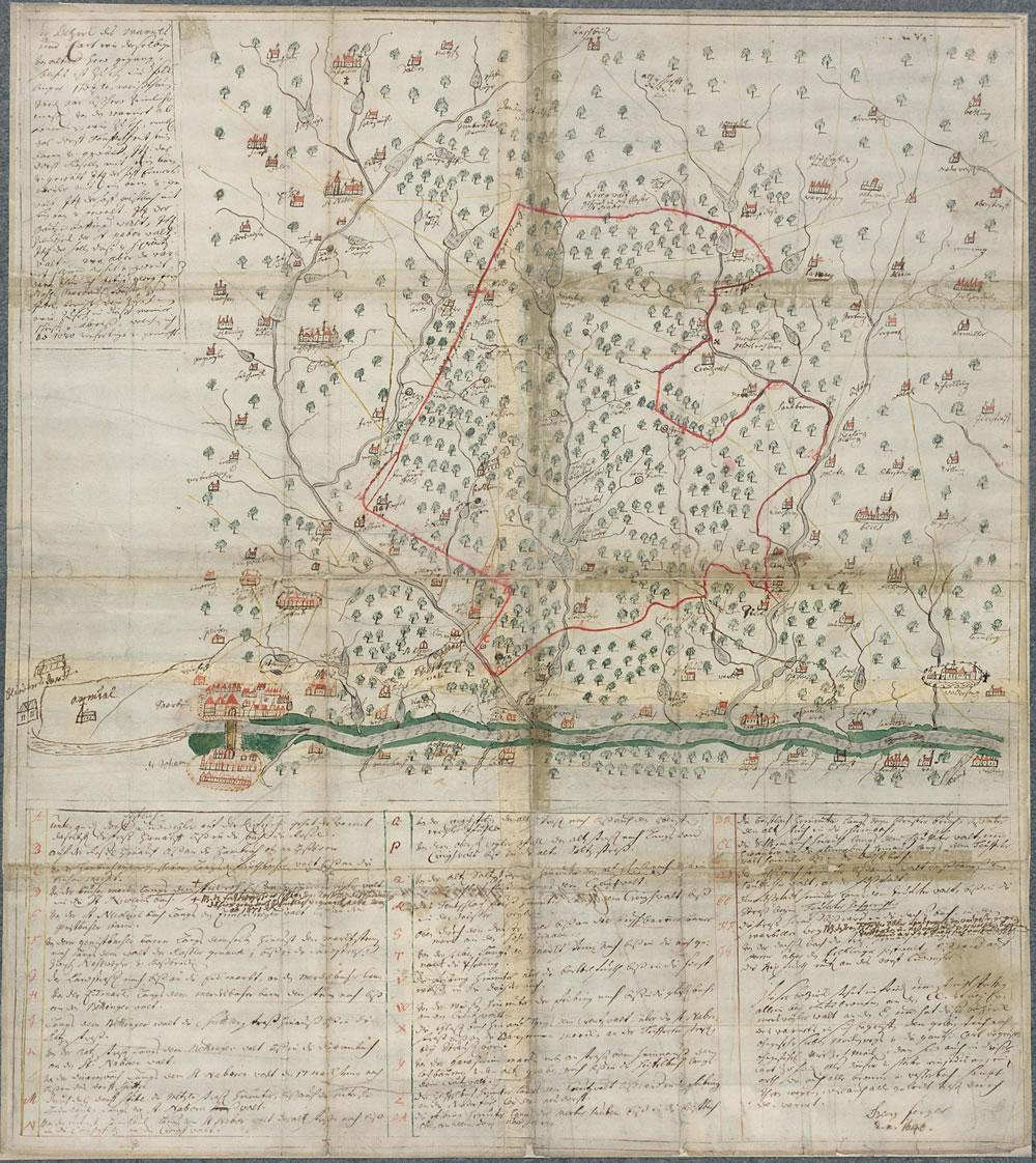 Fergersche Warndtkarte von 1640