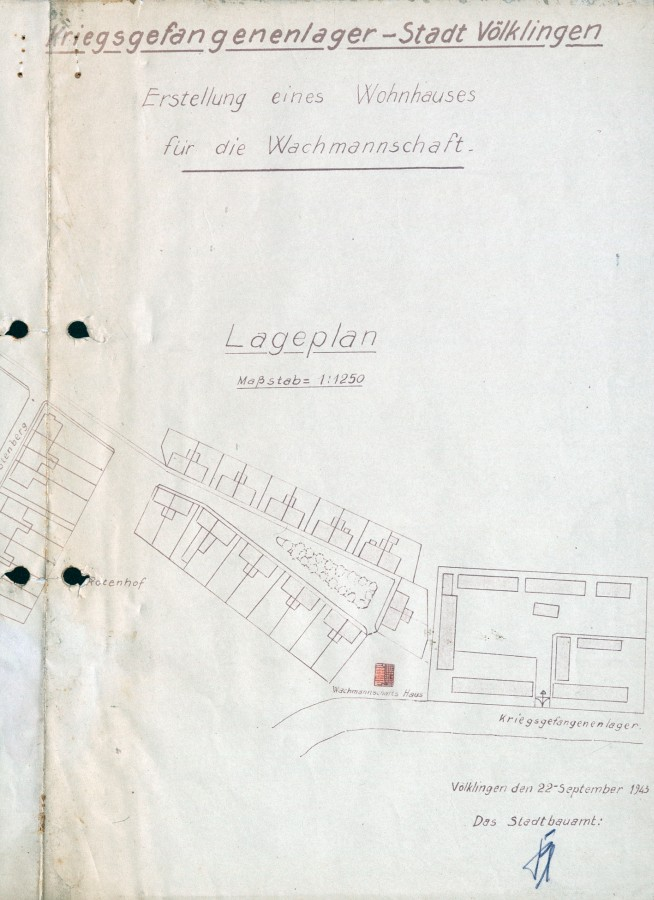 Das städtische Kriegsgefangenenlager am Rotenhof im September 1943.
